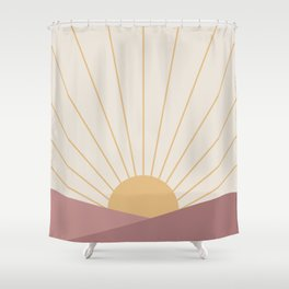 Morning Light - Pink Shower Curtain