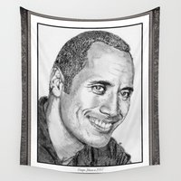 allyson johnson Wall Tapestries featuring Dwayne Johnson in 2007 by JMcCombie