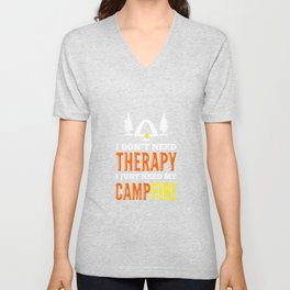 Camping Hiking Outdoor Unisex V-Neck