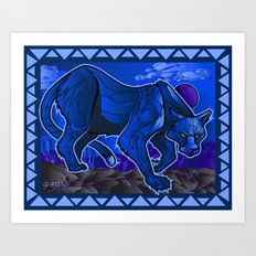 Cougar Blue! Art Print