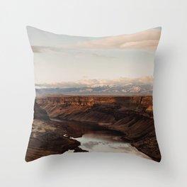 Snake River, Idaho - Scenic Desert Canyon Throw Pillow