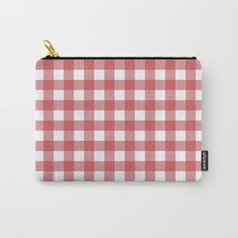 Retro Red Plaid Carry-All Pouch