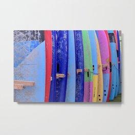 Assorted Color Surfboards Metal Print