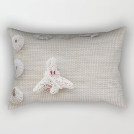 Seashells and urchins design Rectangular Pillow