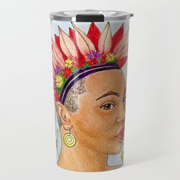 Portrait of Queen Calafia Travel Mug