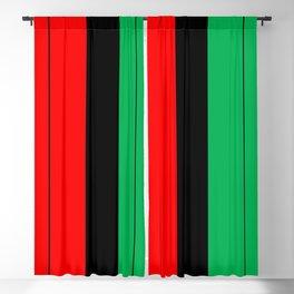 Kwanzaa Red Black Green Stripes Blackout Curtain