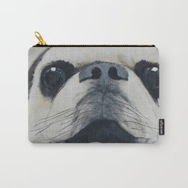 Pug Portrait - Original painting by Tracy Sayers Trombetta Carry-All Pouch