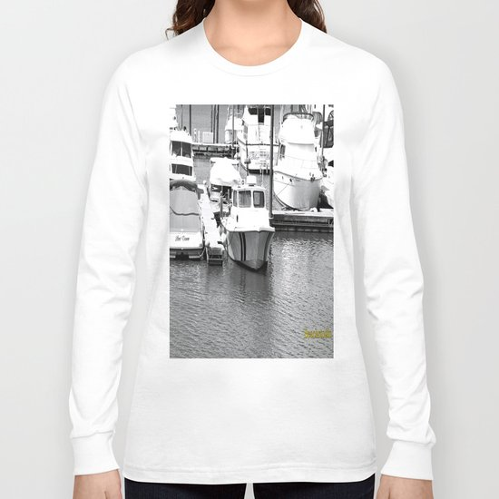 Boats BW Long Sleeve T-shirt