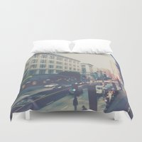 broadway Duvet Covers featuring Broadway Street by Story Of Tascha