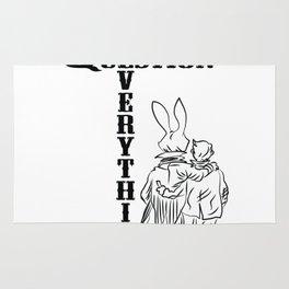 QAnon Art Follow the White Rabbit WWG1WGA Light Rug