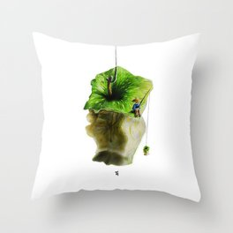 Apple fisher Throw Pillow