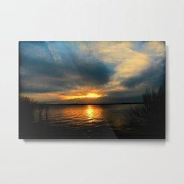 Sunset 091216 Kirby Lake, Abilene, Texas Metal Print