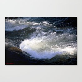Morning Sun on the Rapids of Vallecito Creek, No. 2 of 2 Canvas Print