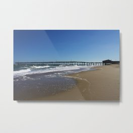 Pier at Nag's Head Metal Print