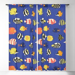 Exotic School Of Reef Fish Blackout Curtain