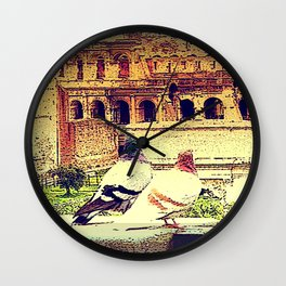 Romantic Rome Wall Clock