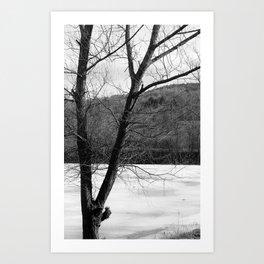 Frozen in Time (b/w) Art Print