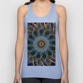 Perfectly swirling ribbons, fractal abstract Unisex Tank Top