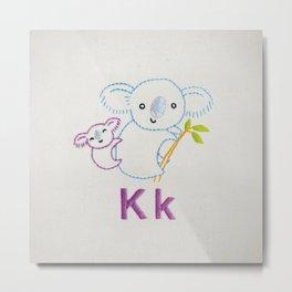 K Koala Metal Print