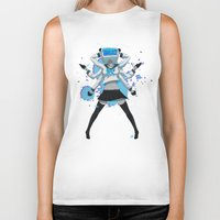 vocaloid Biker Tanks featuring What the hell's going on?! by Helixel
