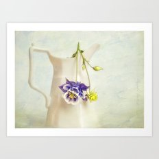 still life with Aquilegia Art Print