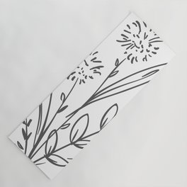 Line Art of Flowers 2 Yoga Mat