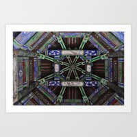 Summer in the palace. Art Print