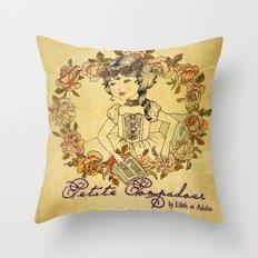 Petite Pompadour Throw Pillow