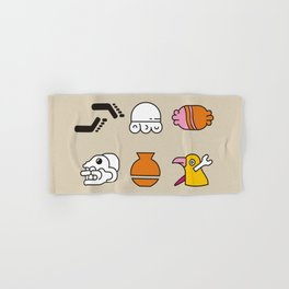 AZTEC~Nahuatl Glyphs Hand & Bath Towel