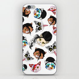 Pop Cats - Pattern on White iPhone Skin