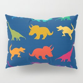 Dino Parade in Navy Blue Pillow Sham