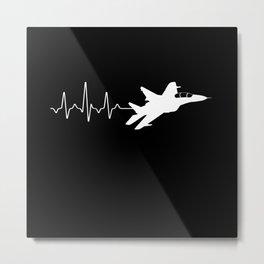 Heartbeat Jet Metal Print