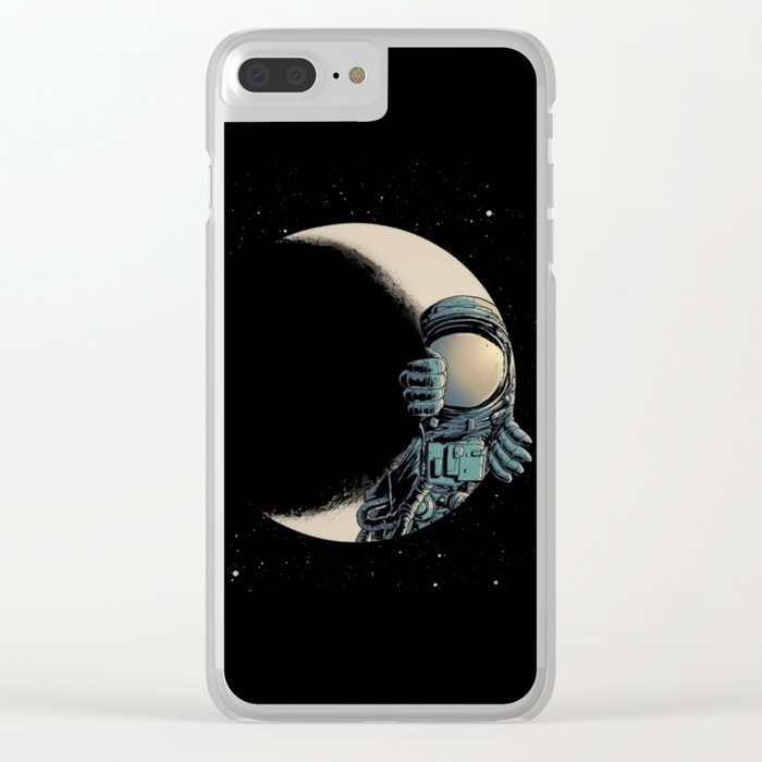 Man in the Moon Clear iPhone Case