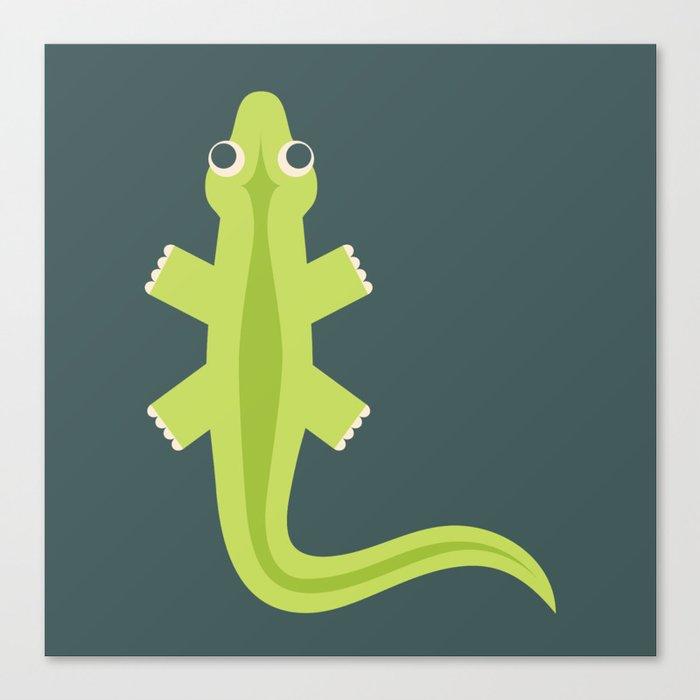 Letter L // Animal Alphabet // Lizard Monogram Canvas Print