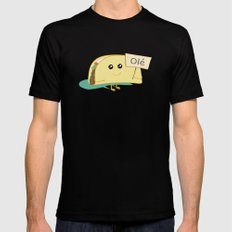 Happy Taco, Olé Mens Fitted Tee LARGE Black
