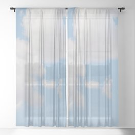 Daydream Clouds Sheer Curtain