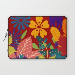 Retro Red Floral Laptop Sleeve