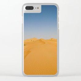 Empty Quarter Sand Dunes Clear iPhone Case