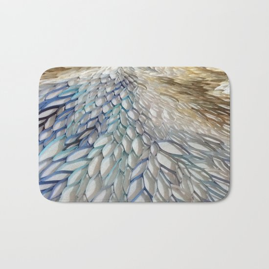 Movement in Blue Bath Mat