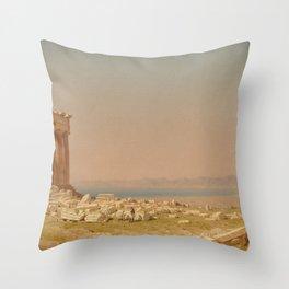 Sanford Robinson Gifford Ruins of the Parthenon 1880 Painting Throw Pillow