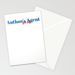 Skilled Author's Agent! Stationery Cards