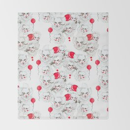 Pennywise Expressions Pattern Throw Blanket