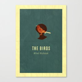 THE BIRDS - Hitchcok Poster Canvas Print
