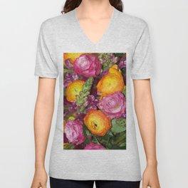 Annas Flowers II Unisex V-Neck