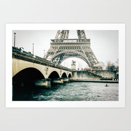 Eiffel Tower View Art Print