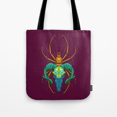 Bright Spider Skull Tote Bag