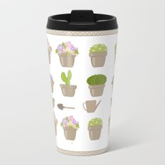 A wonderful design for those who are fond of plants , flowers . Metal Travel Mug