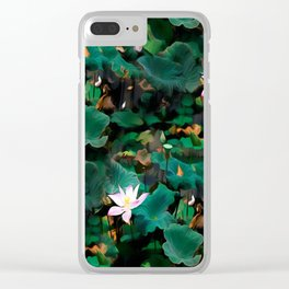 Lotus - A Pattern Clear iPhone Case