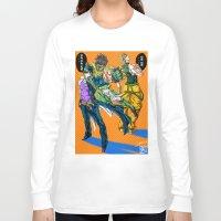 jjba Long Sleeve T-shirts featuring JJBA: Kujo Jotaro VS Dio Brando by DzoHo