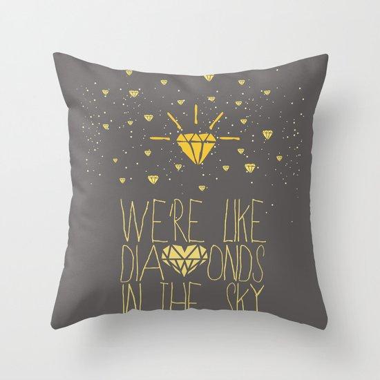 bright like a Diamond Throw Pillow